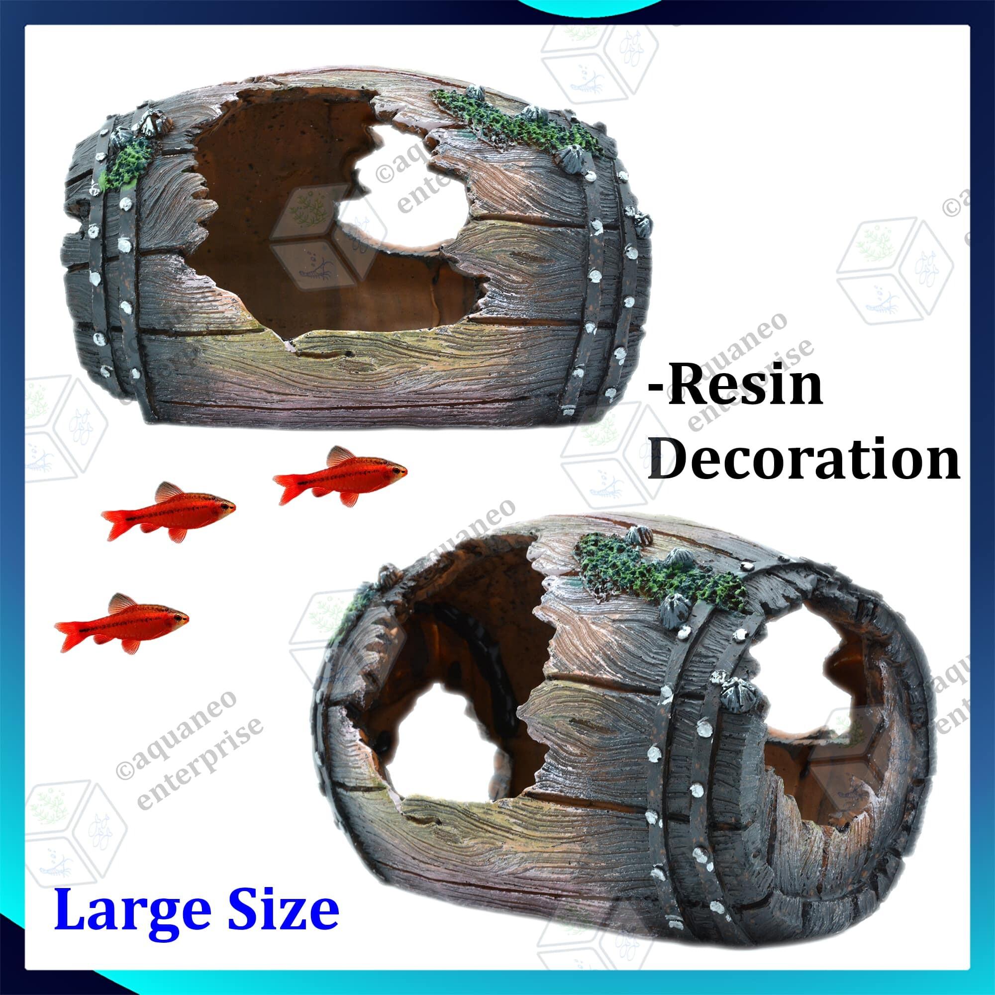 Aquarium Decoration Broken Barrel U229L - Large