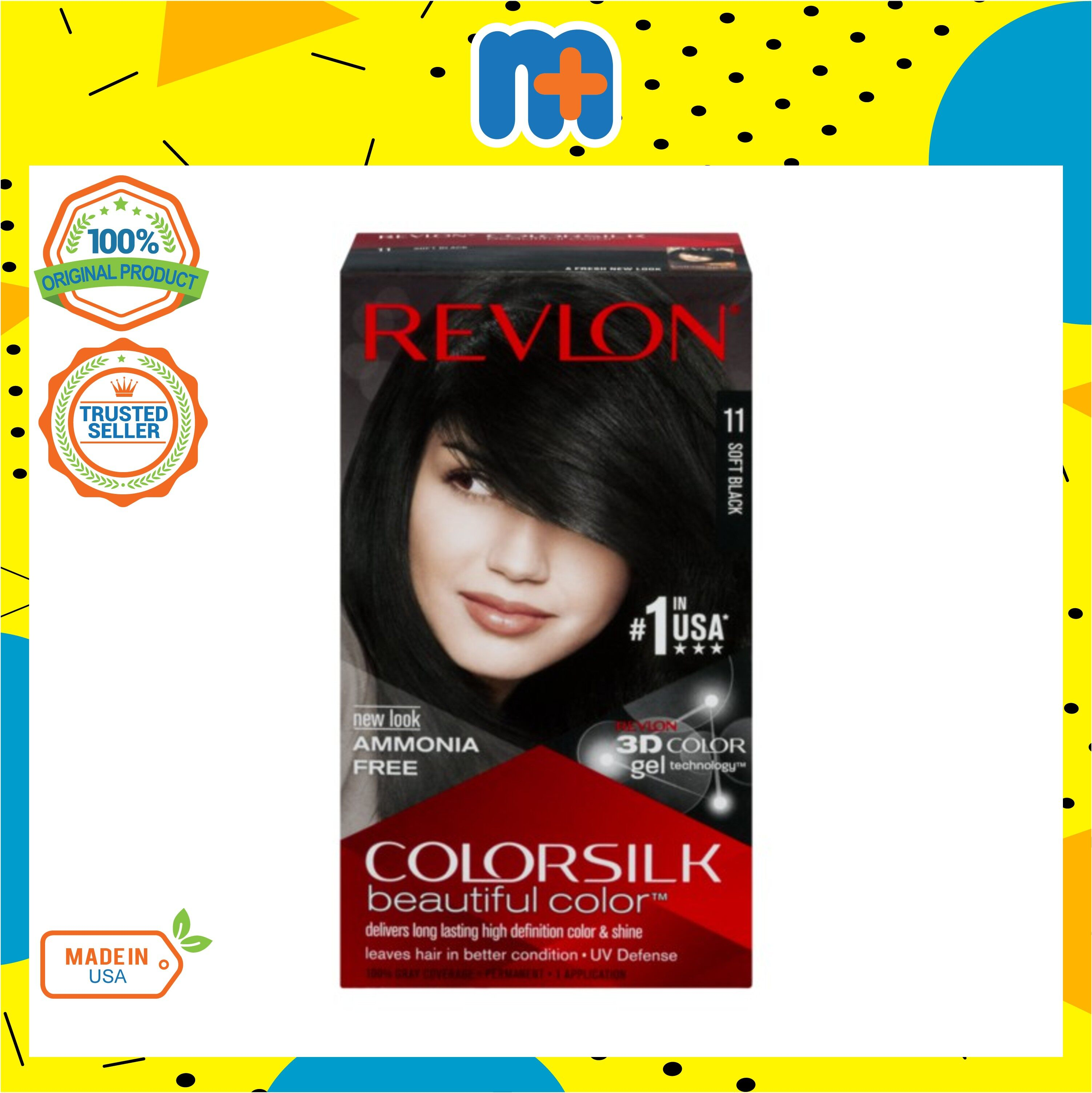 [MPLUS] REVLON Colorsilk 11 Soft Black