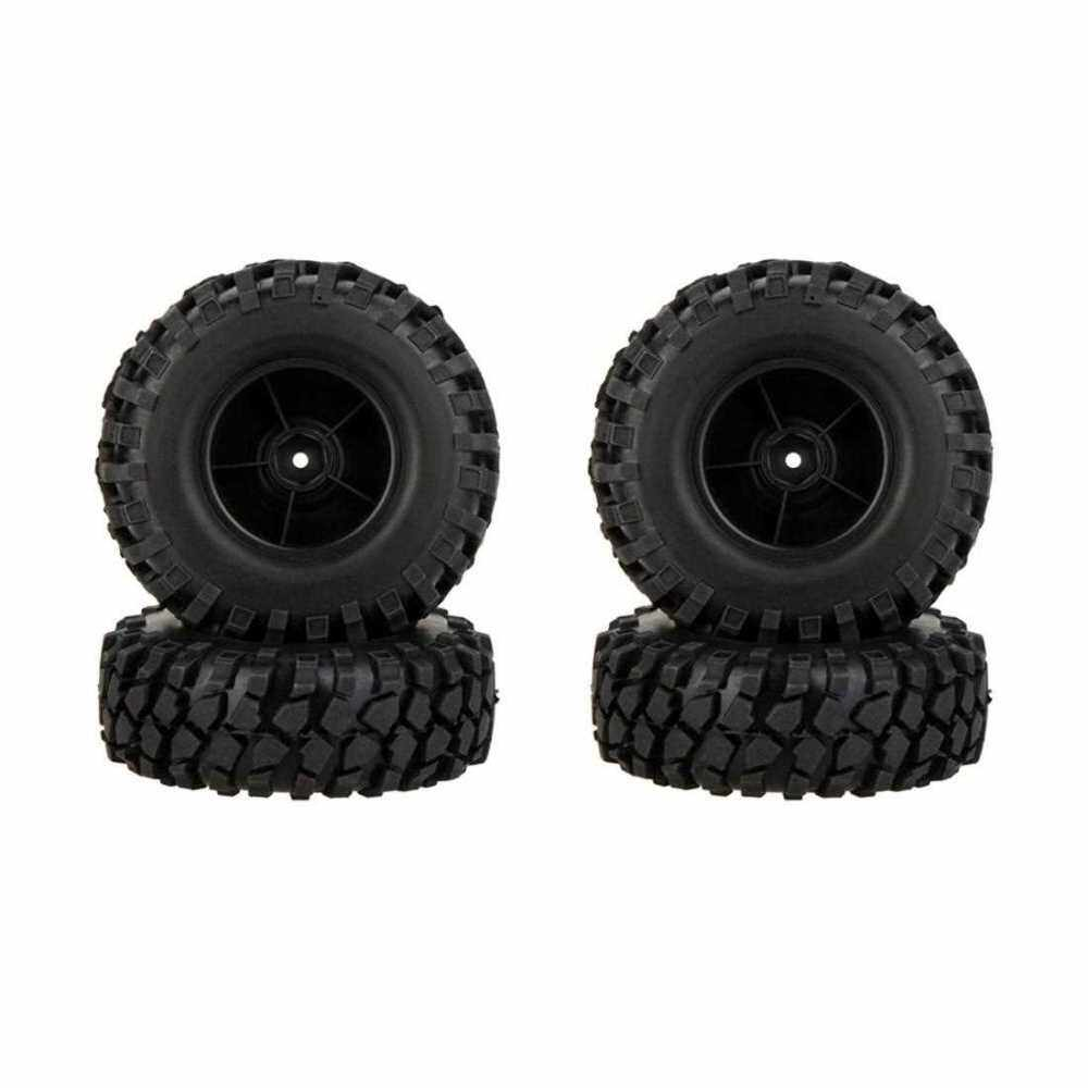 GoolRC 4Pcs High Performance 1/10 Climber Off-road Car Wheel Rim and Tire 210076 for Traxxas HSP Tamiya RC Car (Black)