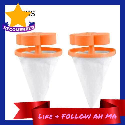 Best Selling Filter Bags Net Washing Machine Floating Laundry Lint Hair Catcher Orange 2PCS (Orange)