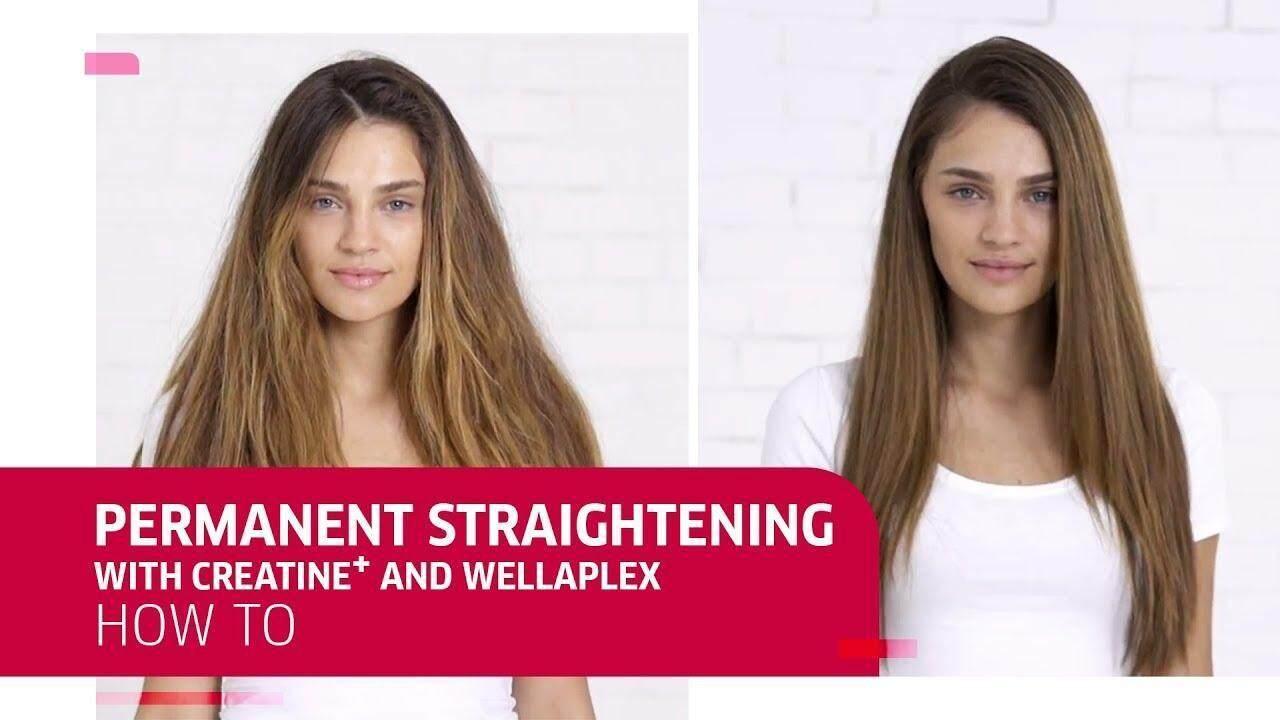 Wella Creatine Straight N Hair Cream Ubat Lurus Rambut Wellastrate Rebond Rebonding