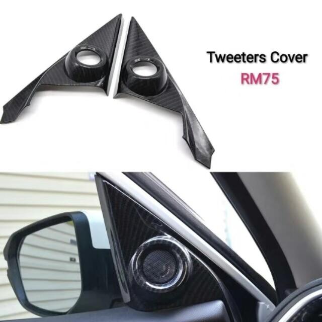 Honda Civic Fc tweeters cover carbon fibre