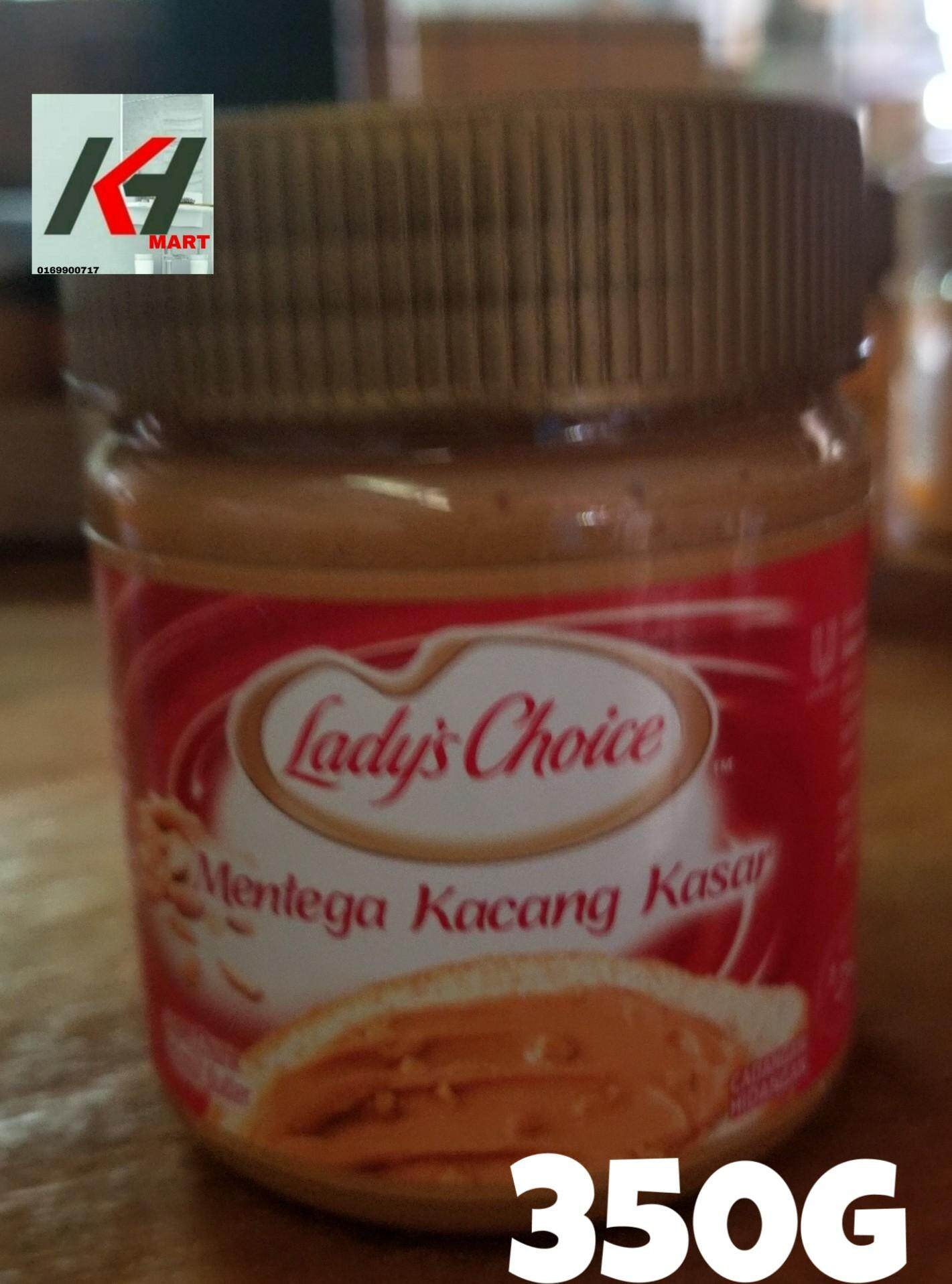 LADY'S CHOICE PEANUT BUTTER (KACANG KASAR) - 340G READY STOCK