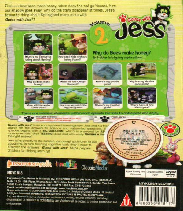 Guess With Jess Vol.2 DVD Asking Thinking Exploring Testing Ideas