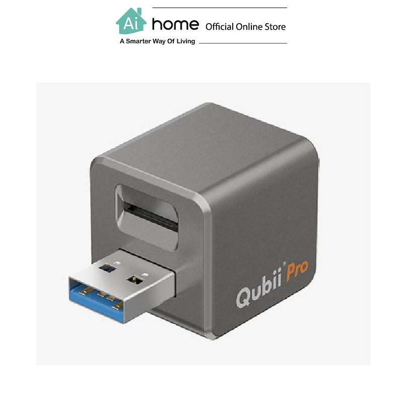 QUBII PRO IPhone Backup Faster, Smarter and Safer (Gray) with 1 Year Malaysia Warranty [ Ai Home ] QUBII PRO Backup