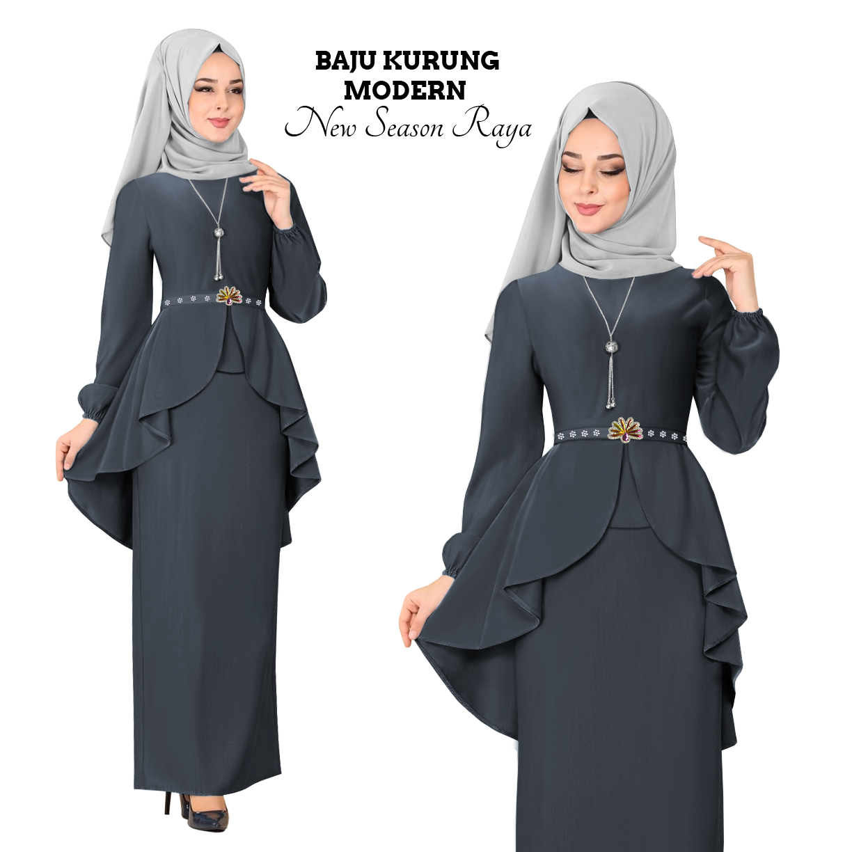 Harga KM Fashion Baju Kurung Modern New Season Baju Raya ( Hot & Trendy ) ( Ready Stock ) Terbaik