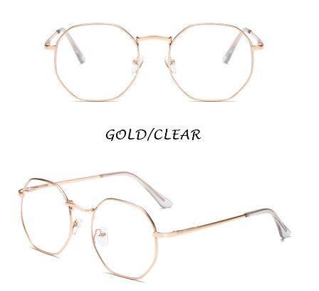 HENGHAREADY STOCKINS Fashion Retro Square Metal Frame Eyeglasses Anti Blue Eyeglasses Square Material