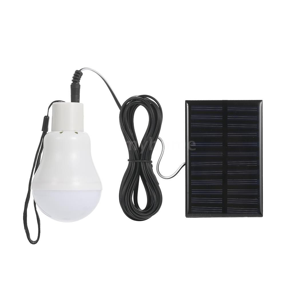 Outdoor Lighting - Solar Powered Energy LED Light Bulb with Solar Panel Hanging Design IP44 Water Resistance PORTABLE - TYPE 2