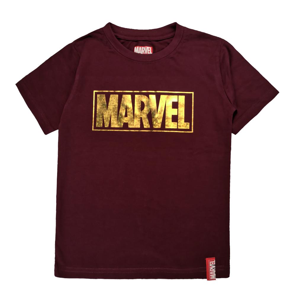 Marvel Genuine Kids Glow in the Dark Avengers Short Sleeve T Shirt VIM20744K (MAROON)