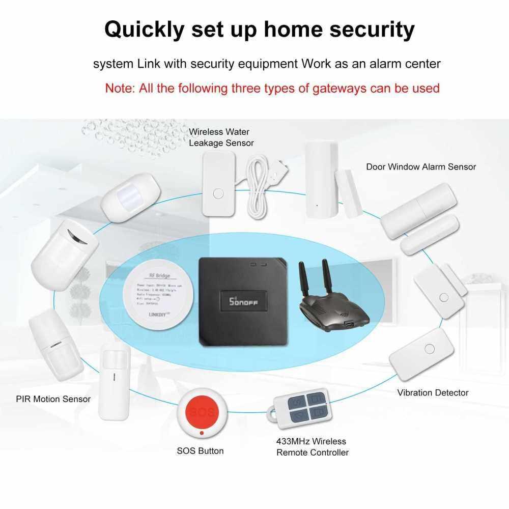 eWeLink PIR Wireless PIR Motion Sensor RF 433Mhz Dual Infrared Detector Anti-theft Alarm Sensor Smart Home Automation Security Alarm System Work with Alarm Host or RF Bridge 433 (Standard)
