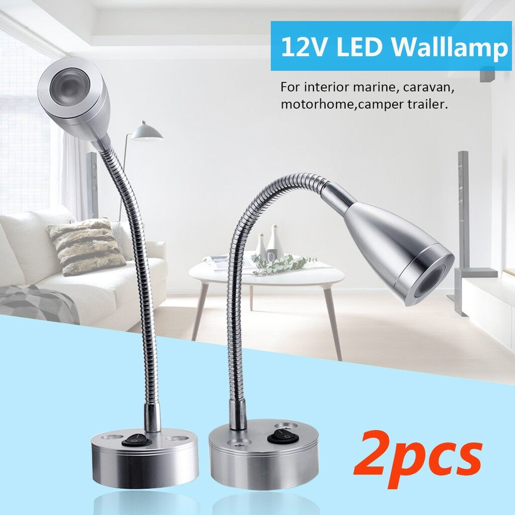 USB Light - 12V Adjustable LED Marine Bedlamp Boat Reading Wall Lamp Camper Light_3C - WHITE / WARM WHITE