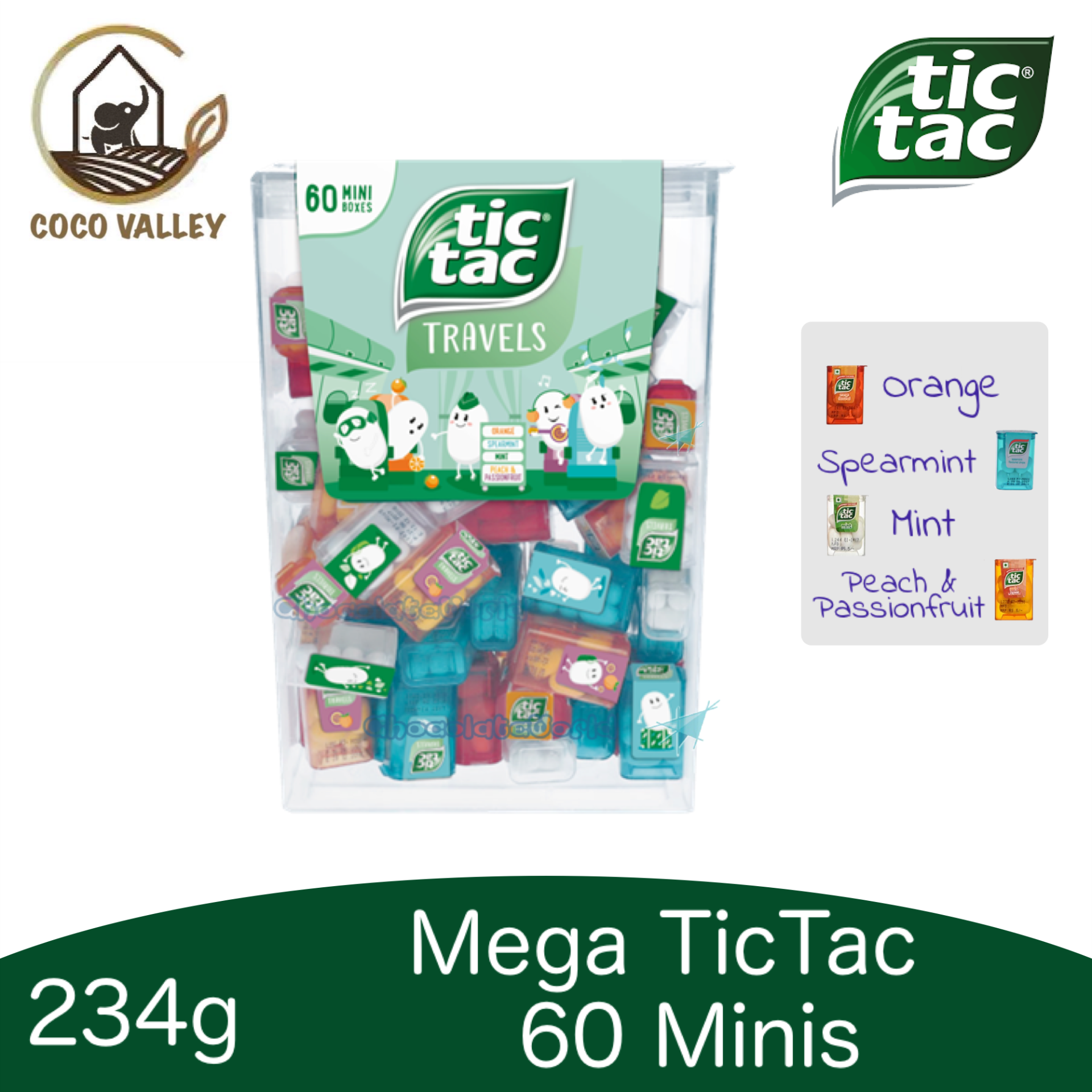 Tic Tac 60 Minis with 4 Flavors Mix 228g by Ferrero