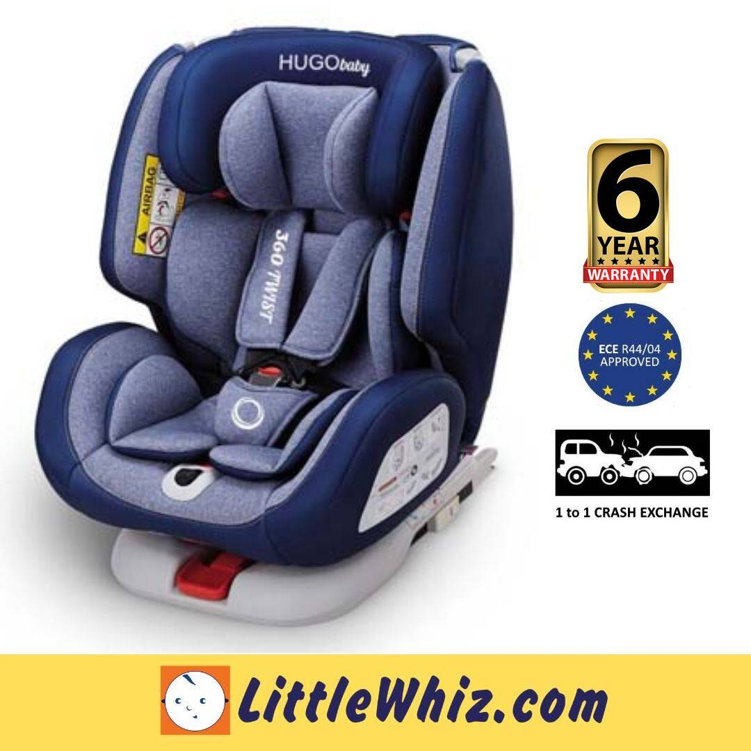 HUGObaby: 360 Twist Convertible Car Seat - BLUE