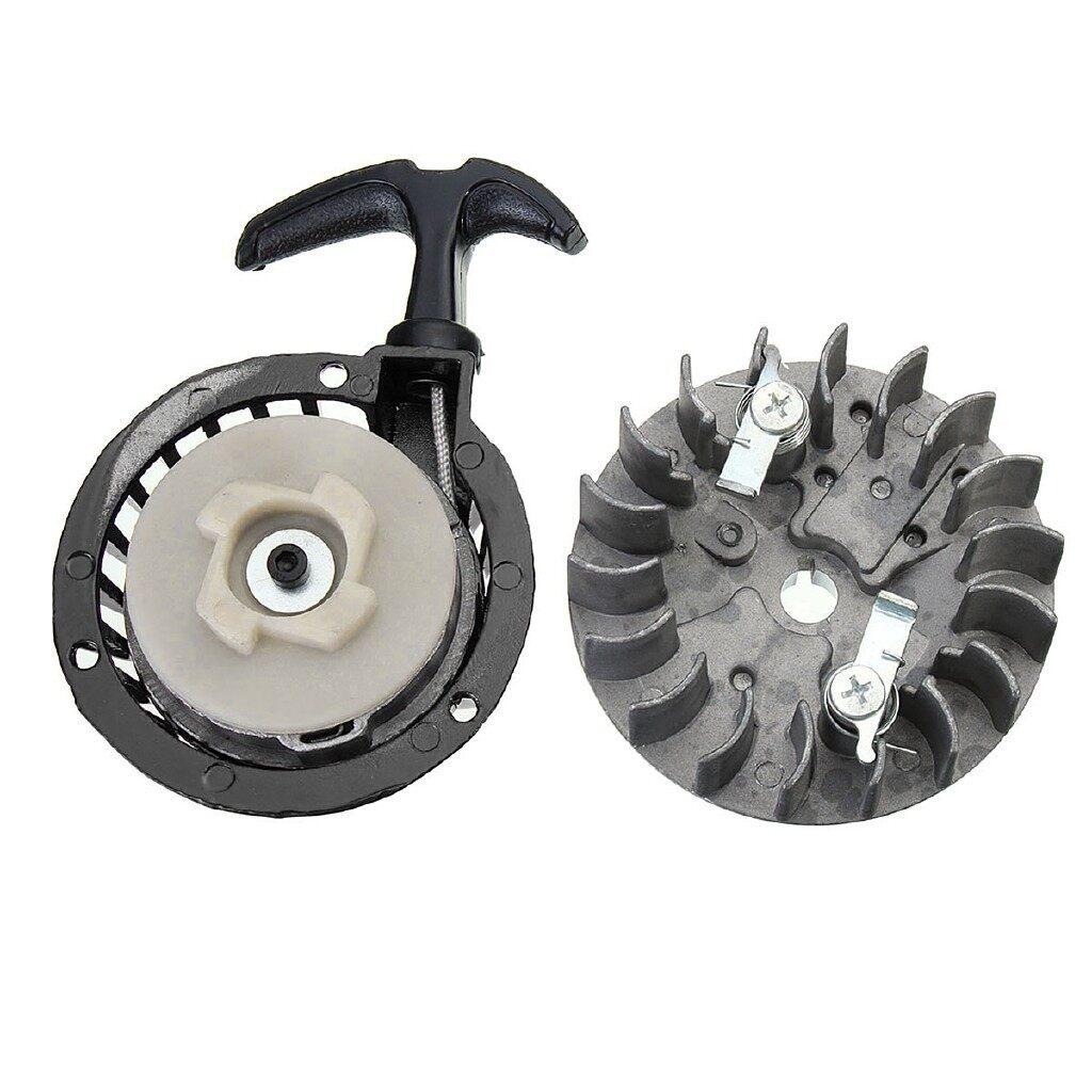 Moto Accessories - Metal 49cc Universal Pull Start And Flywheel For Dirt Bike MINI Moto Quad 49cc - GREEN / RED / BLACK