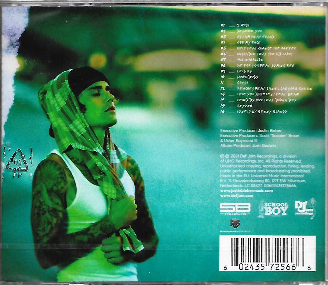 Justin Bieber - Justice Imported CD 6th Studio Album 2021 Release EU Pressed