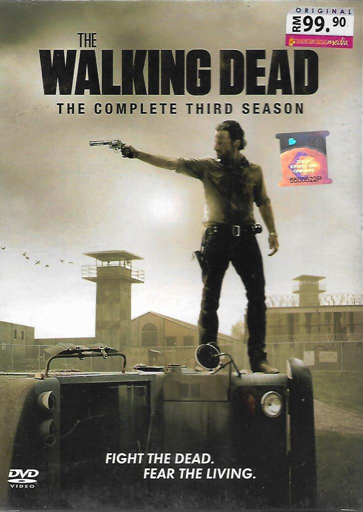 English TV Series The Walking Dead Complete Third Season DVD