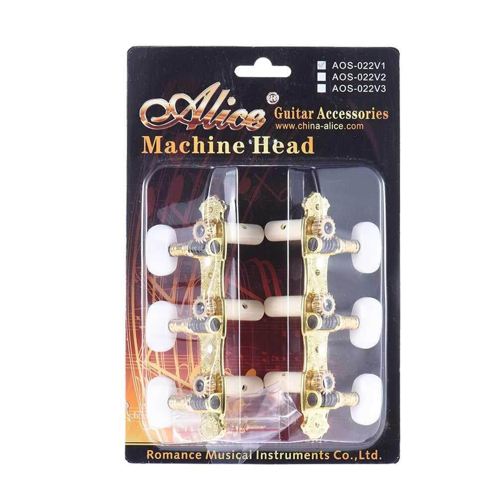 People's Choice Alice AOS-022V1P 2pcs(L&R) High-Grade Gold-plated Acoustic Classical Guitar Machine Heads Tuning Keys Pegs String Tuners