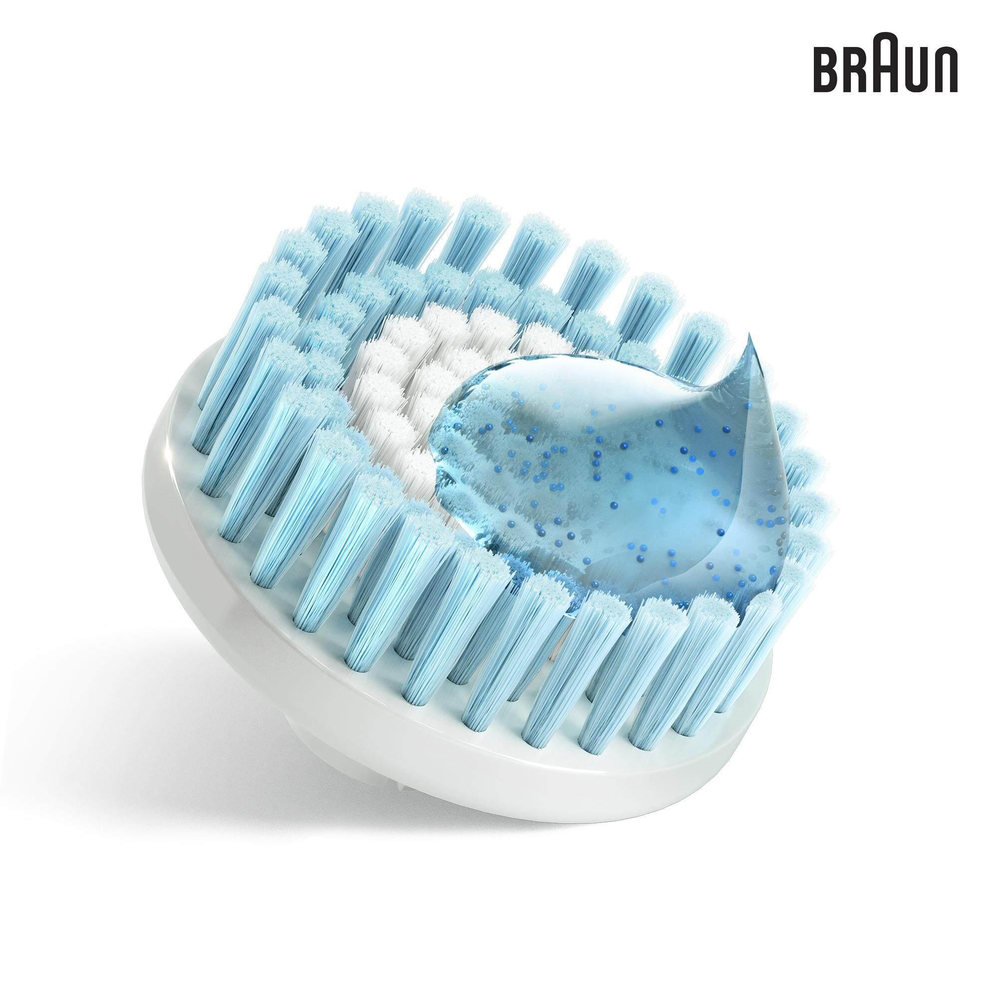 Braun Face 80-e - Pack of 2 Exfoliation Brush Refills - designed for Braun Face Cleansing Brush