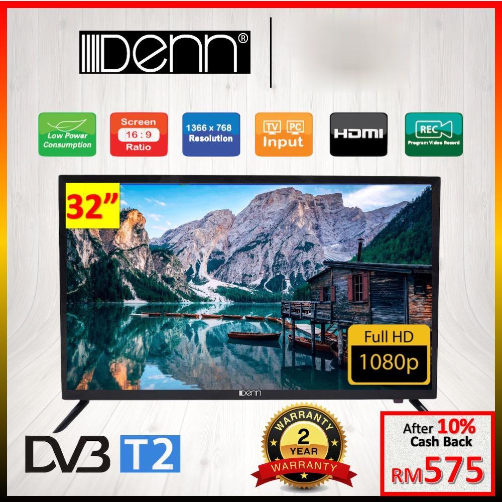 [READY STOCK] DENN 32' Digital FULL HD Led TV - DLT-32WHVTJ DLT2-32WHVT (2 Years Warranty)