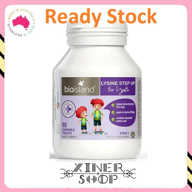 [Ready Stock EXP Date : 02/2023] Bio Island Lysine Step Up for Youth Stage 2 ( 60 tablets )( Made In Australia )