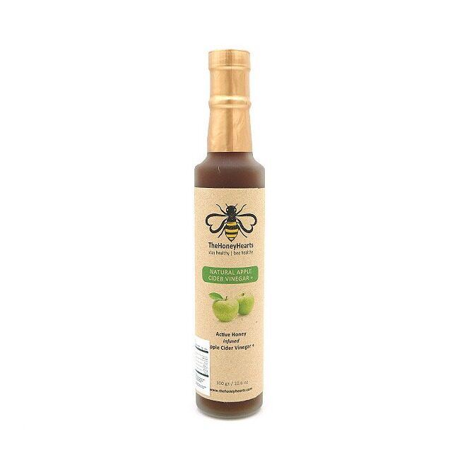 The Honey Hearts 100% Raw Apple Cider Vinegar Infused with Superior Class Honey 300g