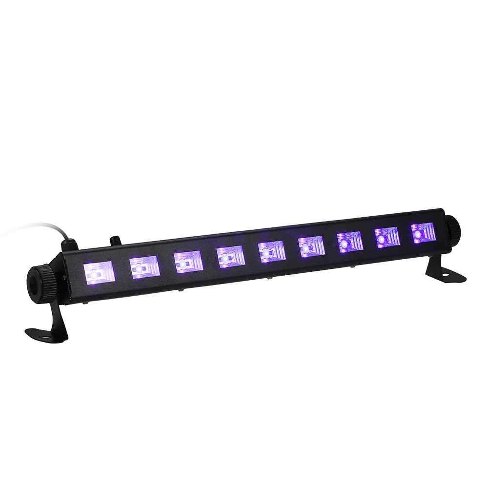 Tomshine Dimmable LED UV Bar Black Light Lamp Fixture Portable High Bright 9LEDs Total Power 27W for Bar Club Party Restaurant Atmosphere Decoration