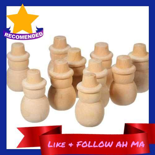 Best Selling 10Pcs Peg Dolls Cake Toppers Unfinished Wood DIY Craft Tree Snowman Christmas Wedding Party Home Ornament (1)