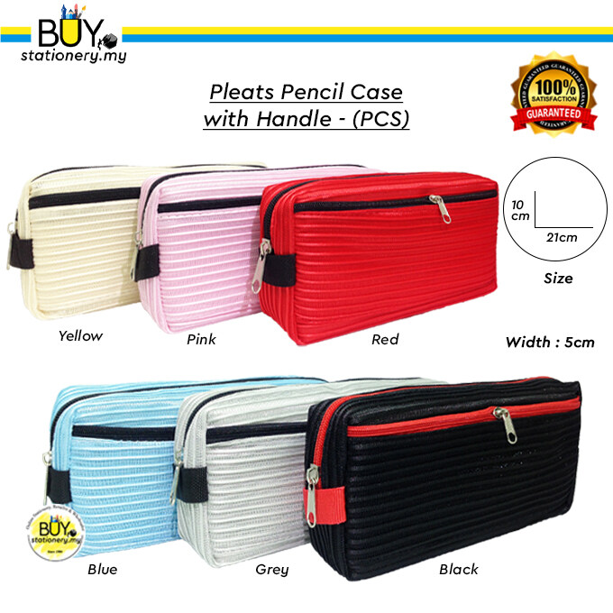 Pleats Pencil Case with Handle - (PCS)