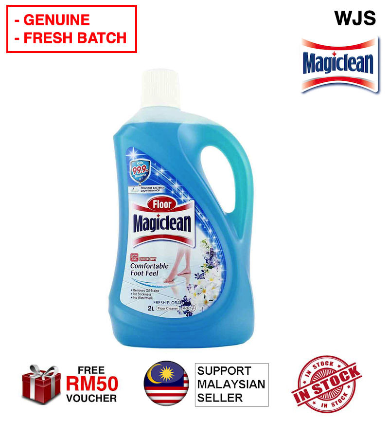 (FRESH BATCH) WJS Kao Magiclean Magic Floor Cleaner Power Regular Cleaner 2000ml Toilet Cleaner Toilet Floor Cleaner Toilet Pencuci Tandas 2L BLUE FRESH FLORAL [FREE RM 50 VOUCHER]