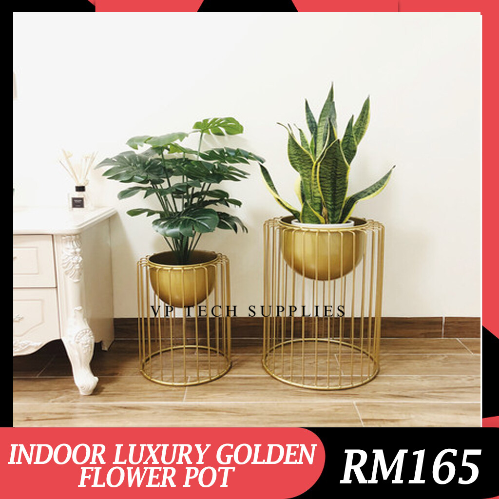 [READY STOCK] INDOOR LUXURY GOLDEN POT/ FLOWER STAND/ NORDIC STYLE