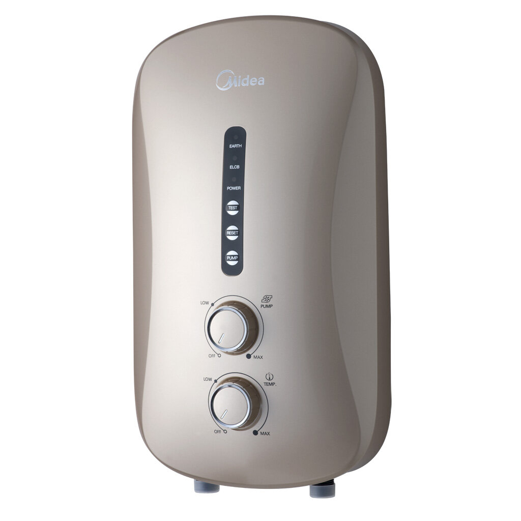 Midea Inverter Water Heater with DC Silent Pump MWH-38P3 / with Rain Shower MWH-38P3-RS   5 Years Warranty on DC Pump