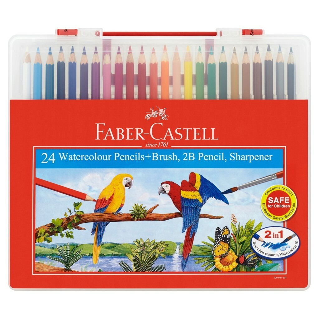 Faber Castell Color Pencils Water Base (24's)