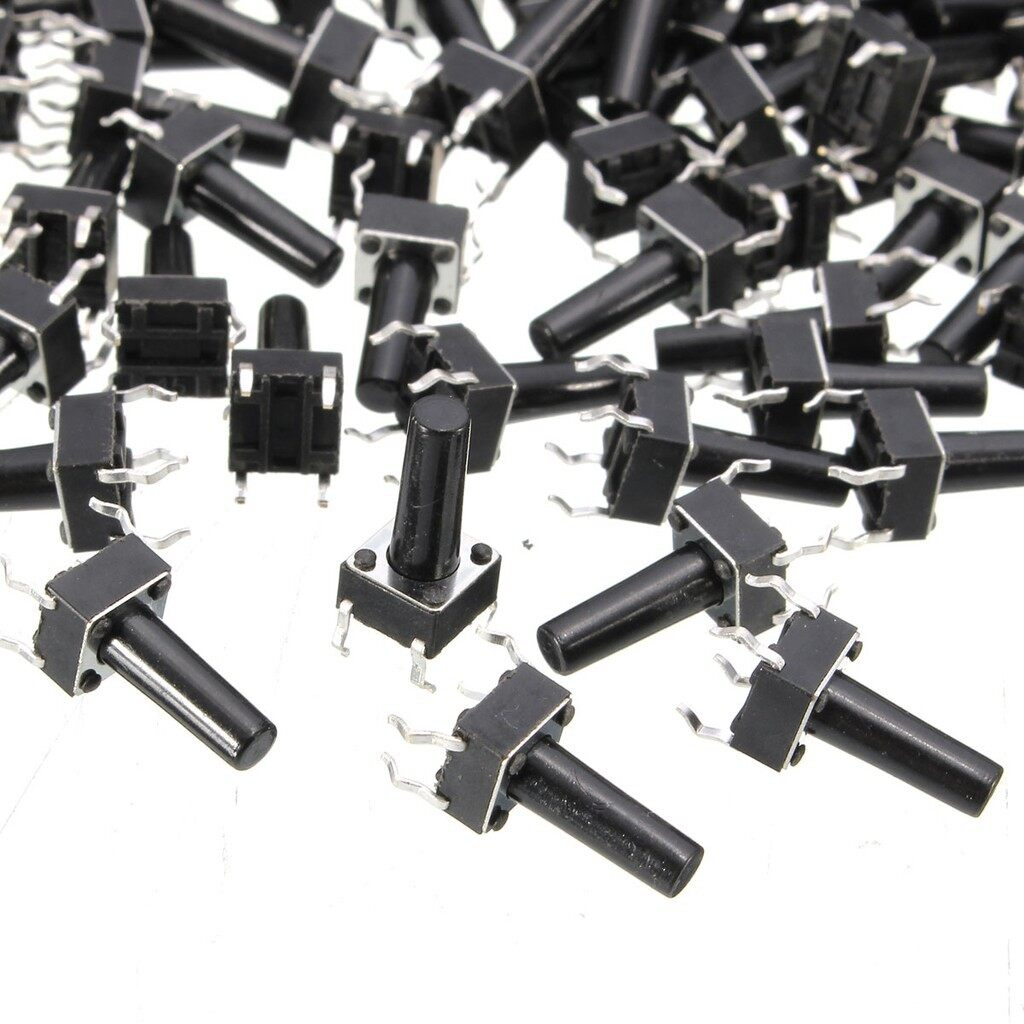 DIY Tools - 100 PIECE(s) Momentary Tactile Push Button Switch Tact Switch 6X6X13mm 4-pin DIP - Home Improvement