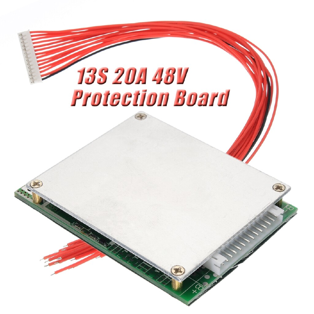 Parts & Components - 20A BMS PCB Board PCM Protection Board w/ Balance For e-bike Li-ion 48V - Cycling