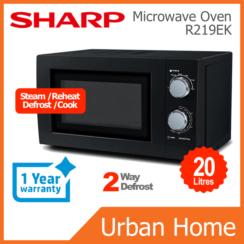 SHARP 20L 700w Mechanical Basic Microwave Oven (R219EK)