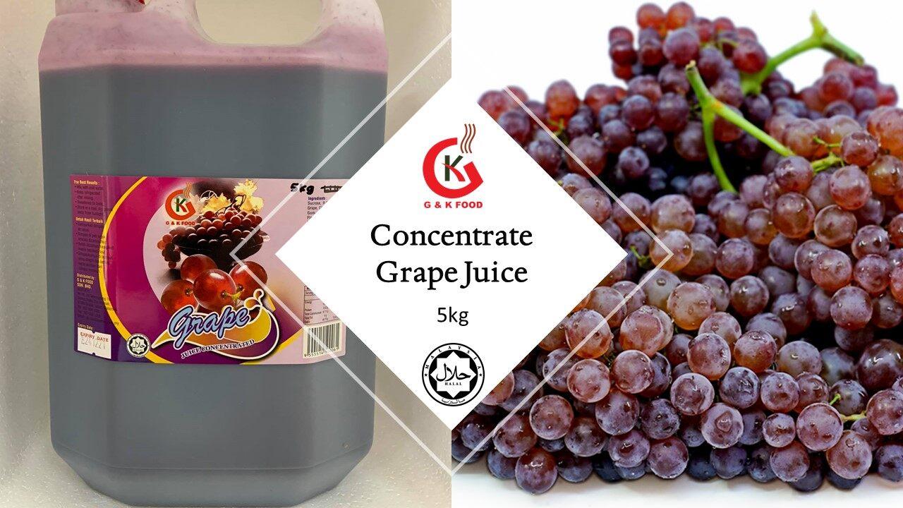 [100% JAKIM HALAL] 5kg Concentrate Grape Juice/ Grape Juice/ Grape Milk Shake/ Ice Blended Grape/ Stock Cukup!!!