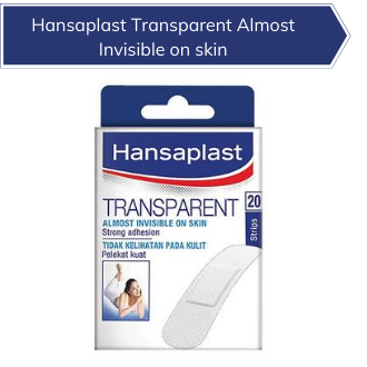 Hansaplast Transparent Almost Invisible on skin -20s