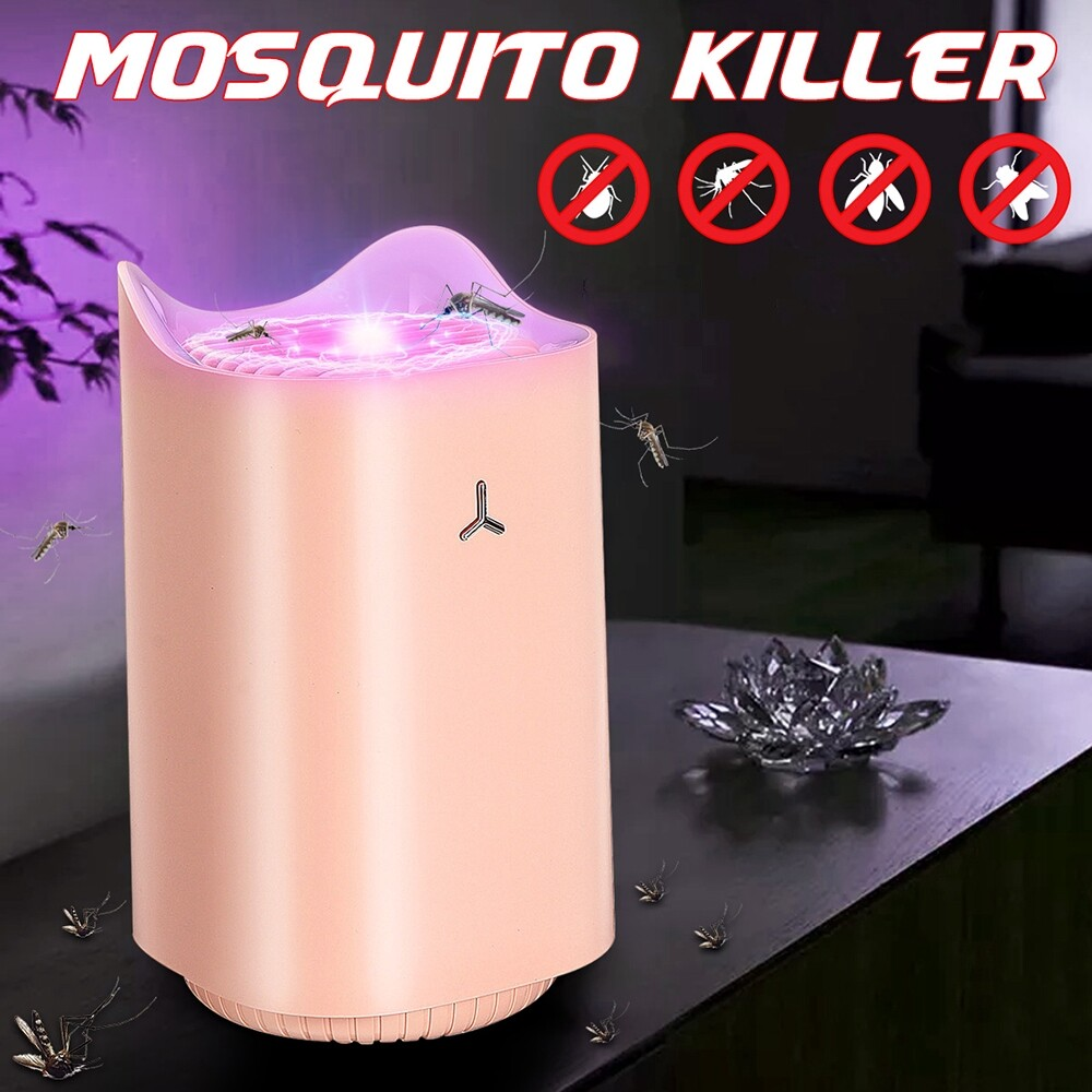 Specialty Lighting - Indoor USB 368nm Wavelength Quiet Cat Fly Bug Zapper Mosquito Killer Trap Lamp-3c - PINK / WHITE