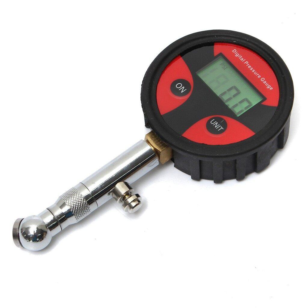 Gauges & Meters - 0-200PSI Metal Digital Tire LCD Manometer Air Pressure Gauge PSI BAR KPA KGF/cm2 - Car Accessories