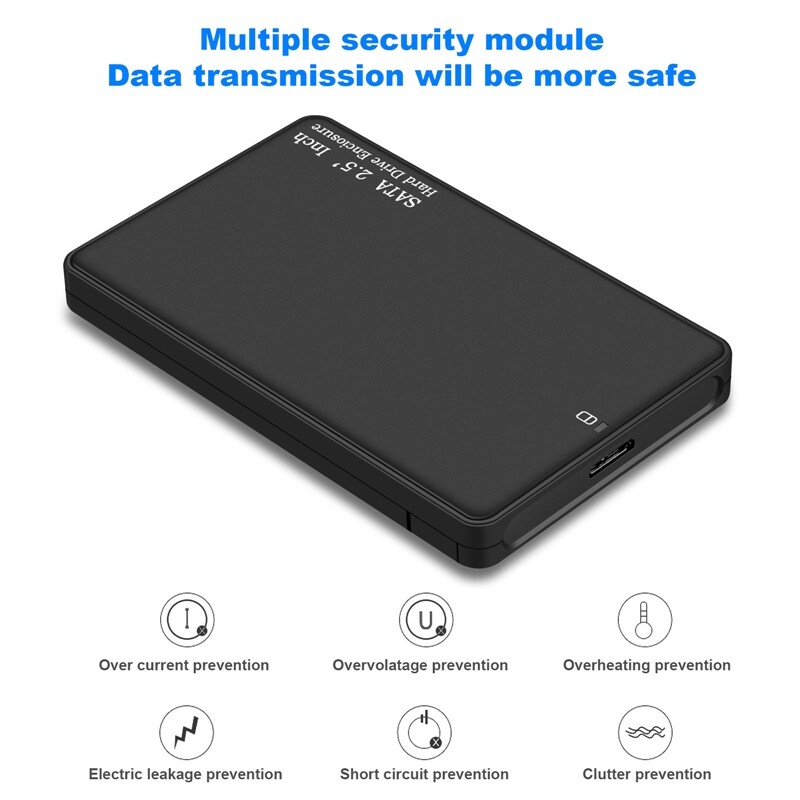 External Hard Drives - 2TB PORTABLE External Hard Drive ULTRA Slim SATA Storage Devices Case USB 3.0 - Storage
