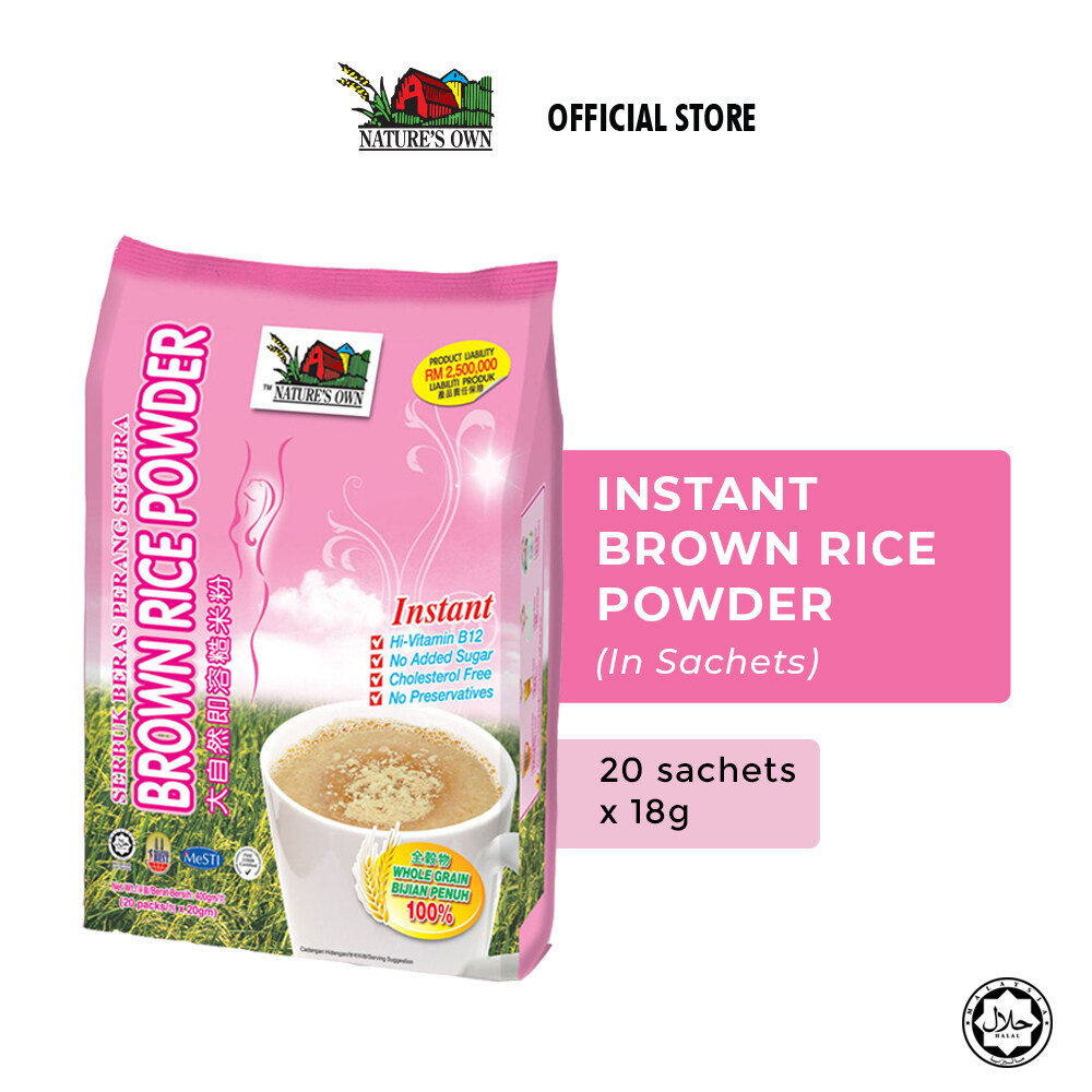 Nature's Own® Instant Brown Rice Powder (1 pack x 20 Sachets x 18g)