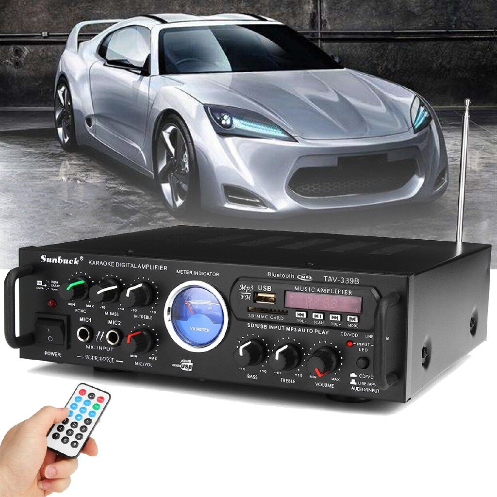 Mobile Cable & Chargers - 600W BLUETOOTH Stereo Receiver Power Amplifier Audio Karaoke Home Hi-Fi FM USB