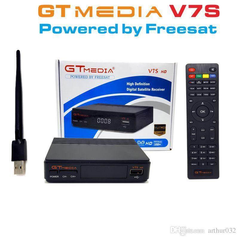 Hot Freesat GT Media V7 hd TV Receiver Support cline Network Sharing