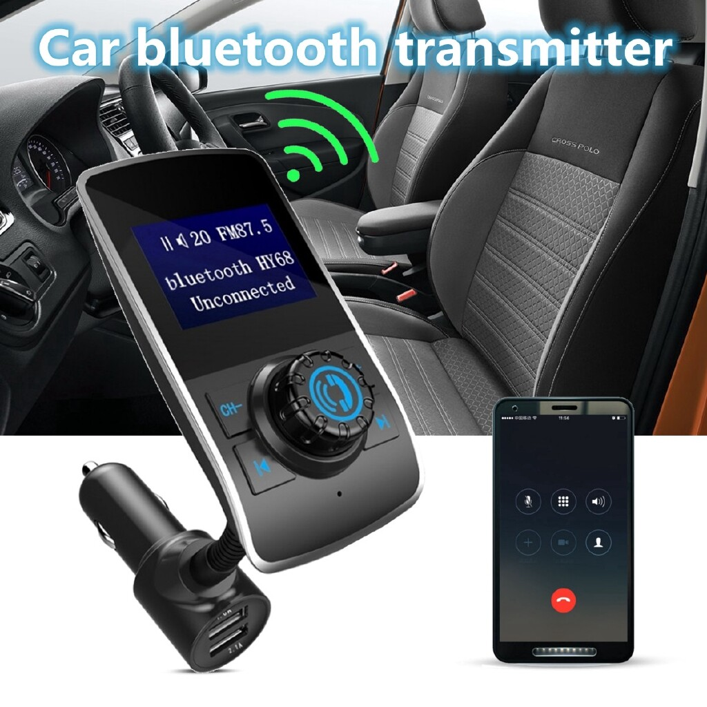 Chargers - WIRELESS BLUETOOTH Car Kit USB Charger FM Transmitter Radio Adapter MP3 Player - Cables