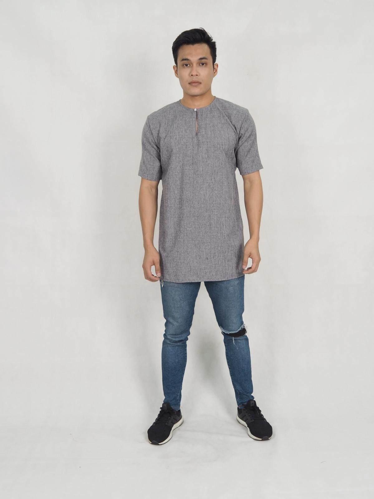 Muslim Men Moden Muslimin Half sleeves cotton Linen shirt Kurta / Hafiz Short sleeve Man Top / Moden men Kurta Raya 2021 / Ready Stock / Murah / Ship from Malaysia / Hot Product
