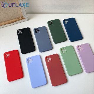 UFlaxe Ốp lưng Apple iPhone 11 Pro X XS Max XR 6 6S 7 8 Plus SE 2020 Bọc điện thoại mềm Macaron Ốp lỏng Chống sốc siêu mỏng thumbnail
