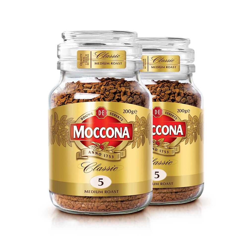 Moccona Classic Medium Roast Freeze Dried 5 Coffee 200g x 2 Jar