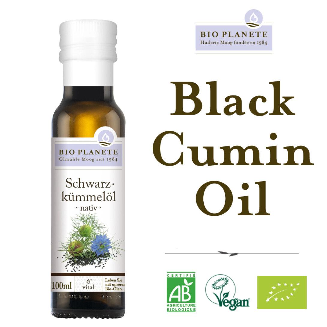 BIO PLANETE Organic Black Cumin Oil - Cold Pressed Virgin (100ml)