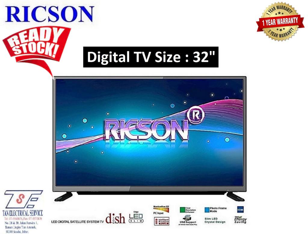"""Ricson DVB T2 Digital HD TV LED 32"""" - 32RT7"""