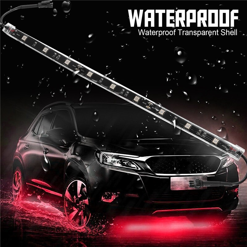 Car Lights - 12'' 14 PIECE(s) Red Car Truck Underglow Underbody Neon Accent LED Lights Strip Lamp - Replacement Parts